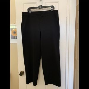 Eileen Fisher Black Ponte knit pant